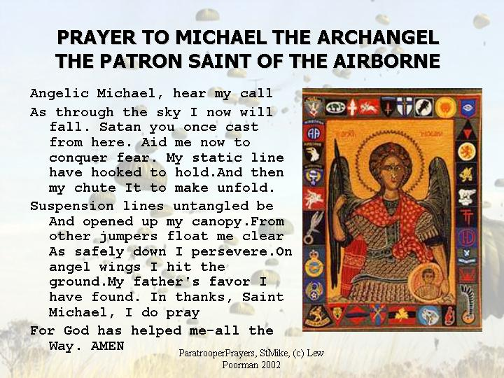 St  Michael the Archangel, Patron Saint of the Airborne